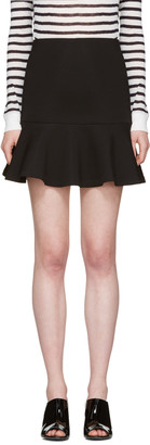 McQ Alexander Mcqueen Black Peplum Miniskirt $350 thestylecure.com
