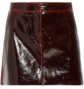 Tibi Glossed Wool-blend Mini Skirt