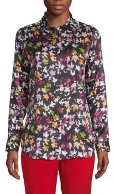 Equipment Floral-Print Silk Button-Down Shirt