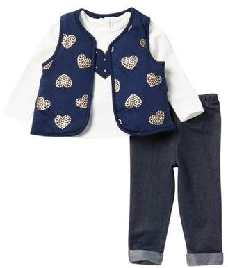 Little Me Heart Vest, Top, & Pants Set (Baby Girls)