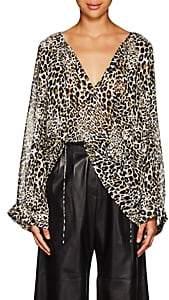 Nili Lotan Women's Acadia Leopard-Print Silk Blouse-Leopard