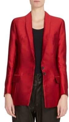 Haider Ackermann Hourglass Silk-Blend Jacket