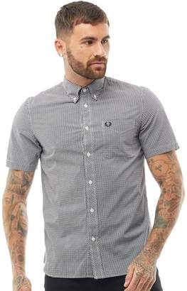 Fred Perry Mens Gingham Shirt Black