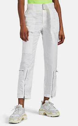 Helmut Lang Women's Cotton-Blend Crop Flight Pants - White