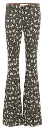 Diane von Furstenberg Leopard-print low-rise flared pants