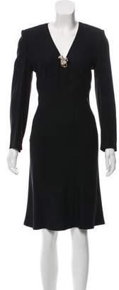 Sonia Rykiel Long Sleeve Midi Dress