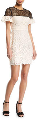 Club Monaco Wollstan Eyelet Lace Sheath Dress