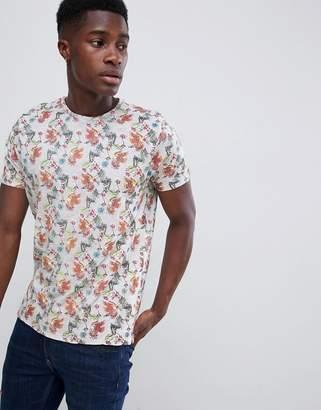 Brave Soul Floral Print T-Shirt