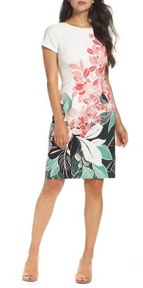 Women's Adrianna Papell Crepe Sheath Dress $160 thestylecure.com
