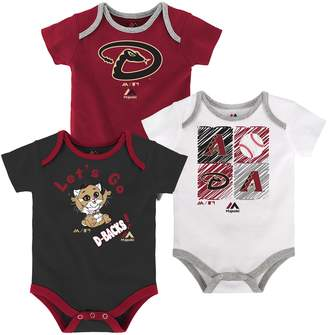Majestic Baby Arizona Diamondbacks Go Team 3-Pack Bodysuit Set