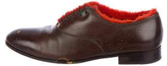 Salvatore Ferragamo Shearling-Lined Lace-Up Oxfords