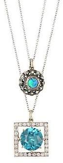 Black Opal Renee Lewis Women's 18K Yellow Gold, Rose Cut Diamond & Two-Chain Necklace