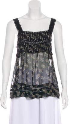 Rebecca Taylor Printed Sleeveless Top