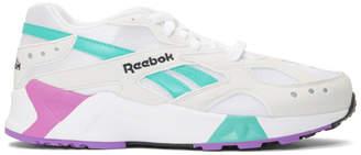 Reebok Classics White and Green Aztrek Sneakers
