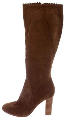 AERIN Suede Knee-High Boots