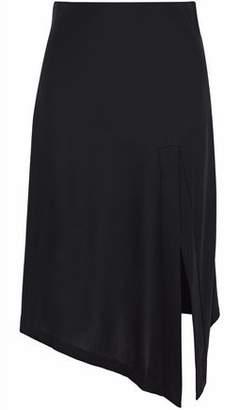 Totême Asymmetric Stretch-Crepe Skirt