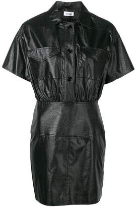Courreges textured shirt dress