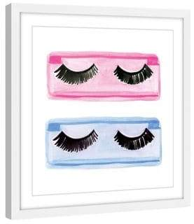 Marmont Hill Lashes Framed Print