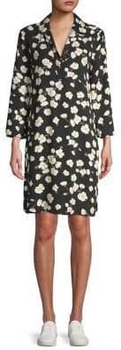 Lord & Taylor Floral Print Long-Sleeve Shift Dress
