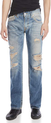 True Religion Distressed Straight Jeans