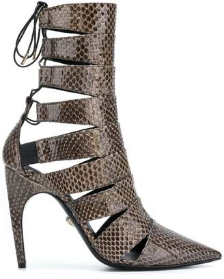 Versace pointed studded boots