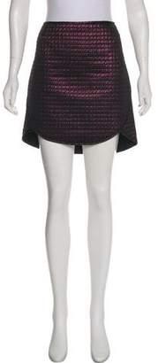 Tibi Quilted Jacquard Mini Skirt