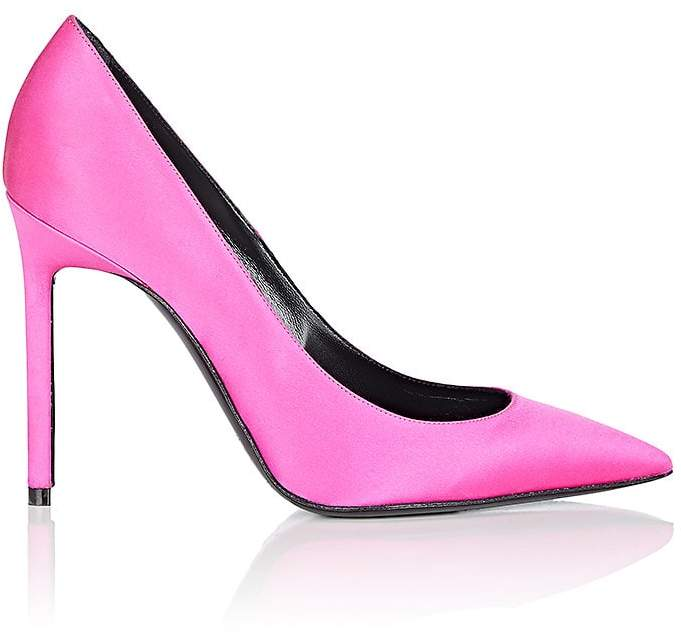 Saint Laurent Women's Anja Satin Pumps