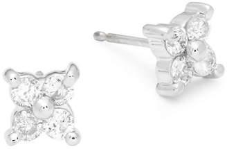 Saks Fifth Avenue White Gold & Diamond Flower Studs