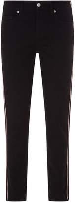 Alexander McQueen Embroidered Stripe Jeans