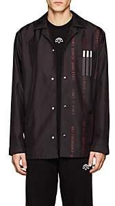 adidas by Alexander Wang Men's Logo Tech-Twill Coach's Jacket-Black