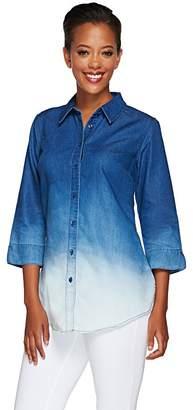 Liz Claiborne New York Dip Dye Denim Tunic