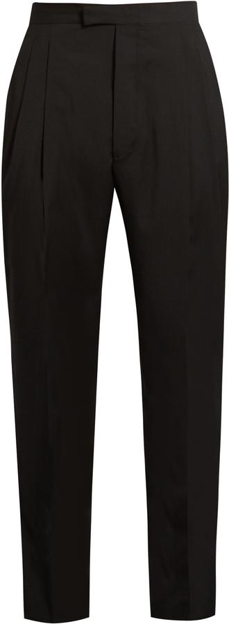 ÉTUDES Tomorrow tapered-leg wool trousers
