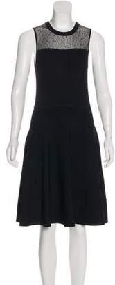 Jason Wu Mesh-Accented Knit Dress