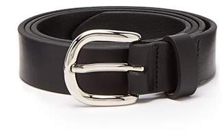Isabel Marant Zap Skinny Leather Waist Belt - Womens - Black