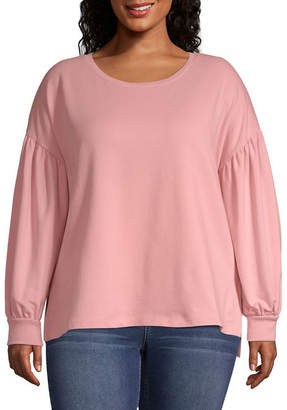 A.N.A Long Sleeve Drop Shoulder Sweatshirt - Plus