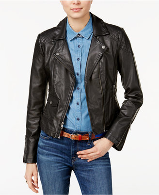 Tommy Hilfiger Faux-Leather Moto Jacket, Only at Macy's $99.50 thestylecure.com