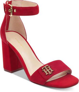 Tommy Hilfiger Sheerah Two-Piece Block-Heel Sandals Women's Shoes
