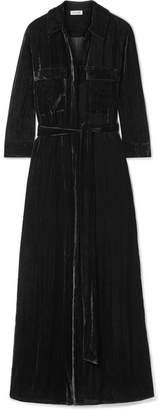 L'Agence Cameron Velvet Maxi Dress - Black