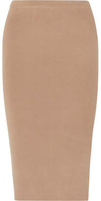 Joseph Stretch Silk-blend Midi Skirt - Camel