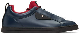 Fendi Blue and Red Bag Bugs Sneakers