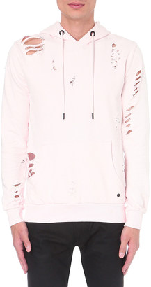 Criminal Damage Shoreditch distressed cotton-jersey hoody $69 thestylecure.com