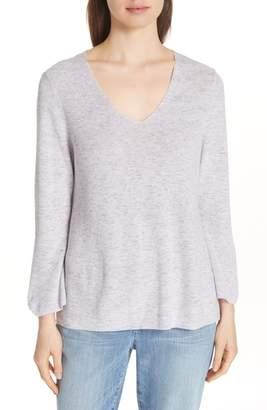 Eileen Fisher Bell Cuff Organic Cotton Sweater
