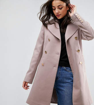 Asos Tall TALL Swing Coat with Military Style Buttons