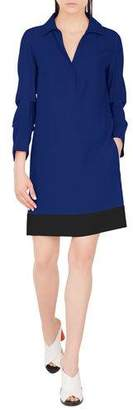 Akris Punto Viscose-Blend Shirtdress with Gathered Sleeves