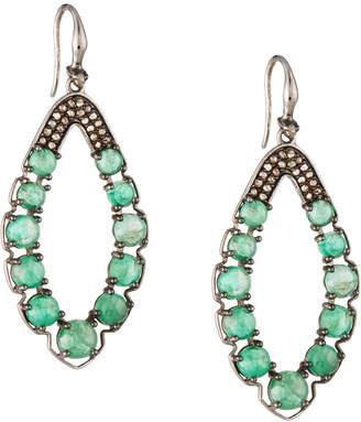 Bavna Open Emerald Marquise Earrings w/ Diamonds