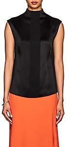 Zac Posen Women's Shadow Stripe Crepe Blouse - Black