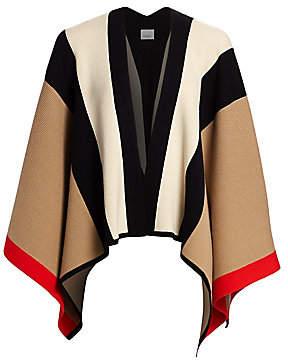Burberry Women's Wool & Cashmere Knit Cape