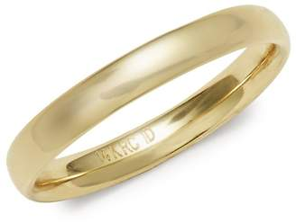 Saks Fifth Avenue Women's 3MM 14K Yellow Gold Polished Wedding Band