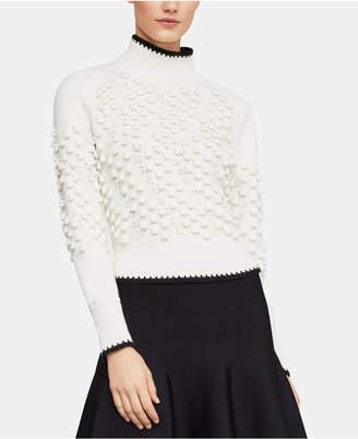 BCBGMAXAZRIA Popcorn-Stitch Mock-Neck Sweater