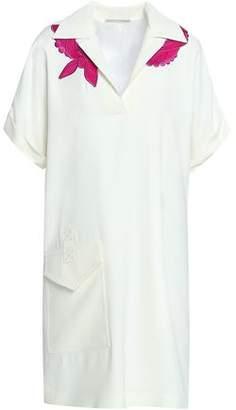 Marco De Vincenzo Embroidered Crepe Mini Dress